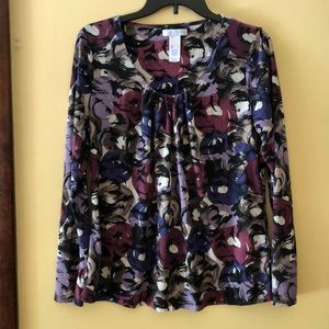 Women's L Liz Wear print top